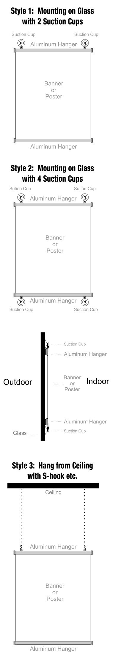 How to Hang Aluminum Hanger