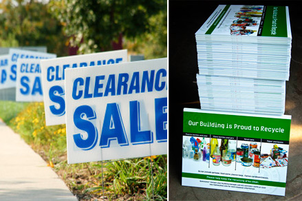 Coroplast signs printing-Plastic signs printing in Montreal